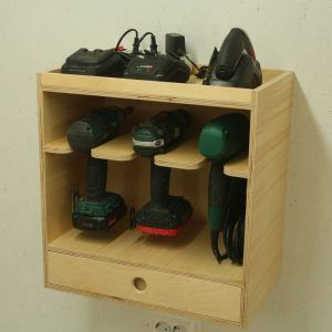 Making A Cordless Drill Storage Charging Station With Leftovers Woodwork City Free Woodworking Woodworking Plans Free Woodworking Workshop Plans Woodworking