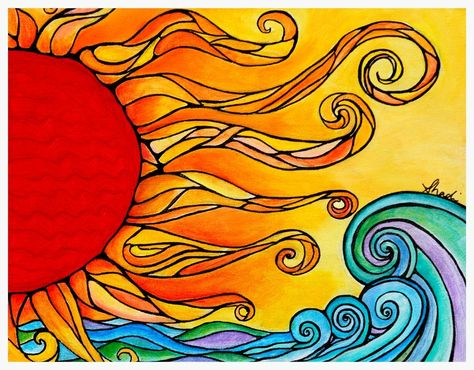 """Limited Edition Print of """"Enlightened"""" Sun Painting by Shadi Desjardins"""