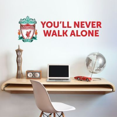 Liverpool Football Club Crest You Ll Never Walk Alone Wall Decal Lfc Wall Sticker Set Wall Murals Diy Kids Wallpaper Football Wall Art