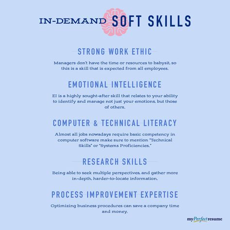 Soft skills are personal attribute-driven general skills that are usually self-developed