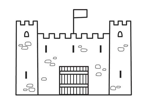 Malvorlage Burg Coloring pages to print Coloring pages