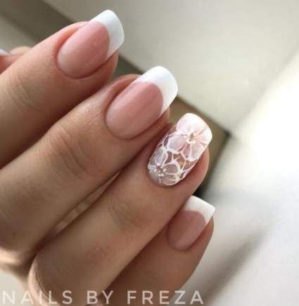Super Wedding Nails Ideas Bridal Manicure Ring Finger 39 Ideas French Nail Designs Ring Finger Nails Trendy Nails