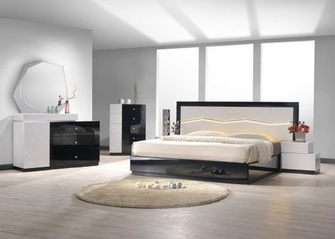 Porto Premium Bedroom Set In Wenge With Light Grey In 2020