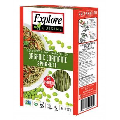 Organic Edamame Spaghetti With Images Edamame Spaghetti High Protein Pasta Bean Pasta