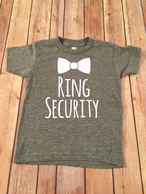 Ring Security Short Sleeve TeeRing Bearer T-ShirtRing by SnowSew