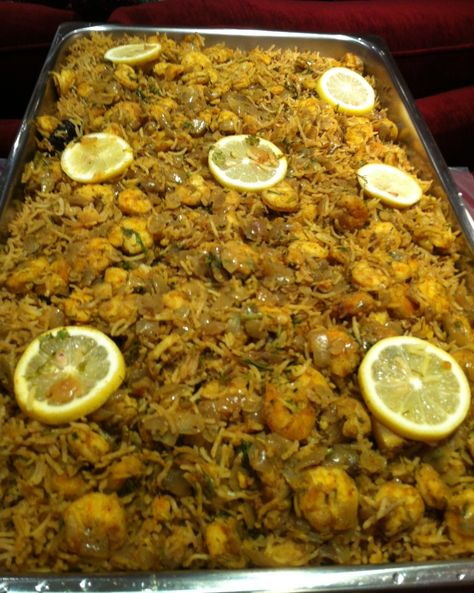 مربين طري على ماش Kuwaiti Mrabian Rice with Shrimp