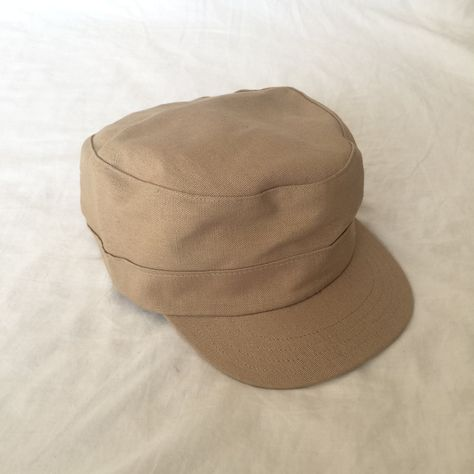 Hemp//Organic Cotton Military Cap Khaki