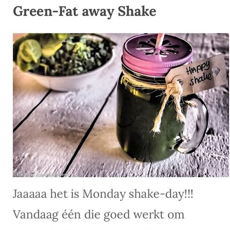 It's Monday Shake-day! Vandaag een die goed werkt om je metabolisme te versnellen! Recept staat op mijn foodblog www.ellemiekevermolen.com #HAPPYSHAKE