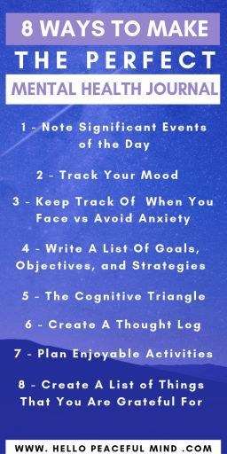 8 Ways To Make The Perfect Mental Health Journal | Hello Peaceful Mind