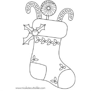 wanted stocking coloring sheets christmas stockings pages free 8299