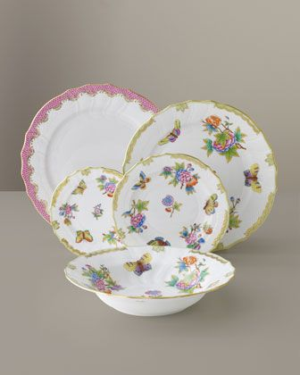 Queen Victoria Dinnerware by Herend at Neiman Marcus. | Beautiful Dishware | Pinterest | Dinnerware Porcelain and China & Queen Victoria Dinnerware by Herend at Neiman Marcus. | Beautiful ...