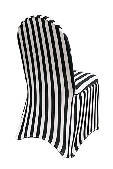 Miraculous Ycc Linen Stretch Spandex Chair Cover Striped Black And Pdpeps Interior Chair Design Pdpepsorg