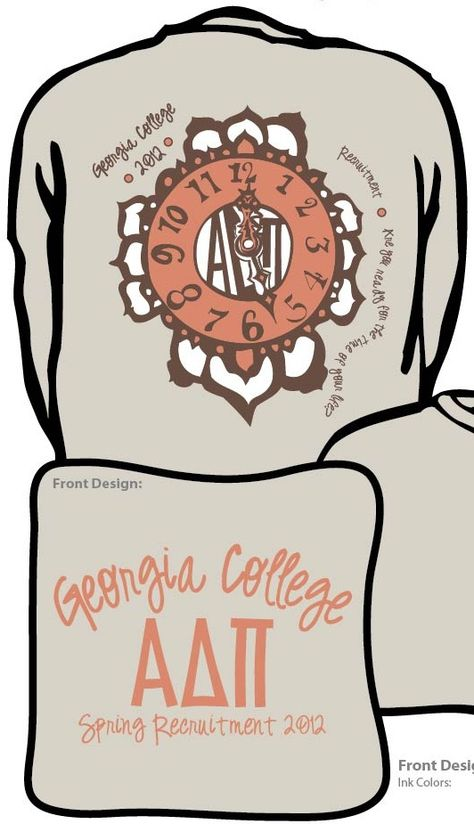 """""""Are you ready for the time of your life?""""    Spring Recruitment / Bid Day t-shirt from Zeta Iota at Georgia College."""
