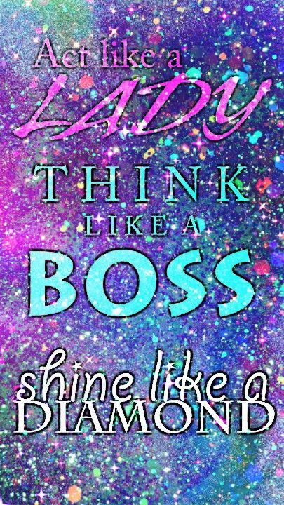 Glittery Girly Quote Made By Me Purple Glitter Sparkles
