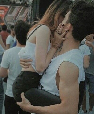 Couple Girl And Boy Kiss Love Romance Romantic Smile Cute