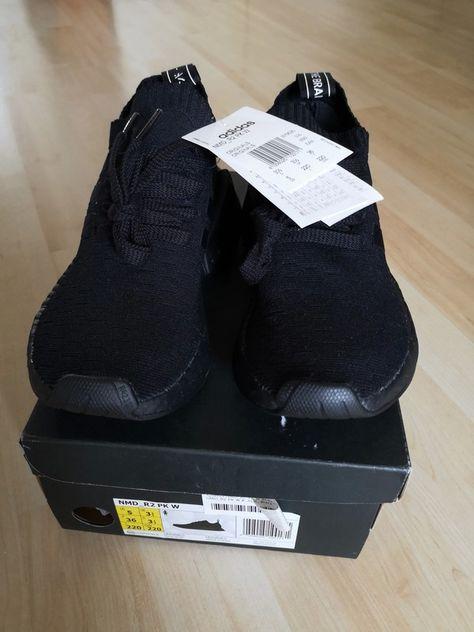 new style 57211 6660f Adidas Nmd R2 Pk W triple Black Schwarz Sale ...