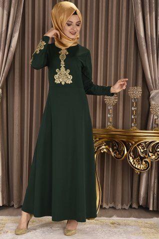 Modamerve Sim Dantelli Elbise Zumrut Myg 1687 Elbise Modelleri Giyim Elbise