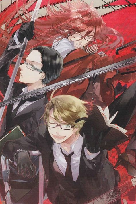 Black Butler ~~ Gorgeous art :: Grell Sutcliff, William T. Spears, and Ronald Knox