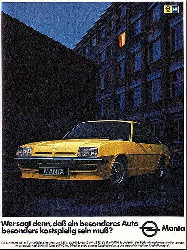 Opel Manta 01 Magazine Ad Anzeige Ams 1977 Opel Manta Classic Cars Opel