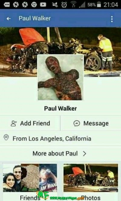 Paul Walker S New Facebook Profile Dankest Memes Facebook
