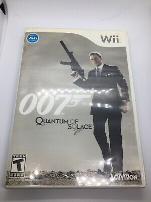 James Bond 007 Quantum Of Solace Nintendo Wii Video Game Ebay