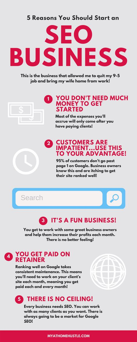 5 Reasons You Should Start an SEO Business Today - MyAtHomeHustle