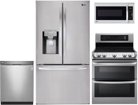4 Piece Kitchen Appliances Package With Lfxc22526s 36 French Door
