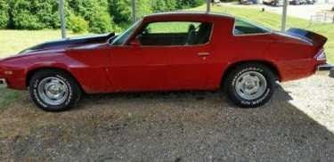 1977 Chevrolet Camaro Type Lt Red For Sale On Craigslist The