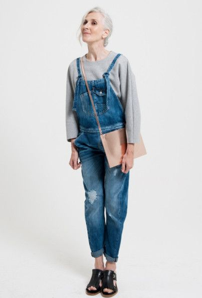 Have Fun With Overalls - Lessons We Learned from Awesome Women About Embracing Aging - Photos