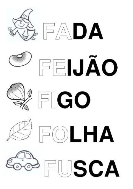 Silabas Com Fa Fe Fi Fo Fu Para As Aulas De Alfabetizacao Belas