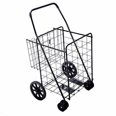 d9eba569c665 Lifestyle Solutions Jumbo Deluxe Portable Folding Shopping Cart with ...