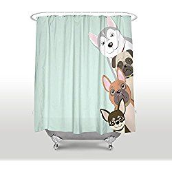 Pug Shower Curtains Dog Bathroom Decor Dog Bathroom Diy