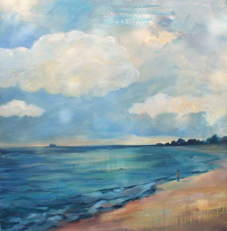 fernweh acryl auf leinwand 2017 100x100 cm in 2021 malerei strandmalerei idee farbe mit foto 80x120