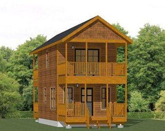 14x28 House 1 Bedroom 1 5 Bath 749 Sq Ft Pdf Floor Etsy In 2021 Small House Design Tiny House Floor Plans House
