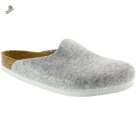 BIRKENSTOCK Amsterdam Womens Light Gray Felt Clogs 39 EU (6