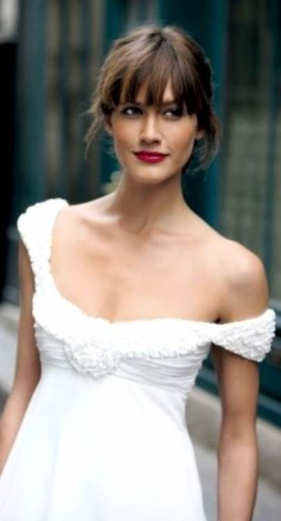 33 Wedding Hairstyles With Bangs Page 24 Of 33 You And Big Day In 2020 Bride Hairstyles Wedding Hairstyles Bride Hair Styles