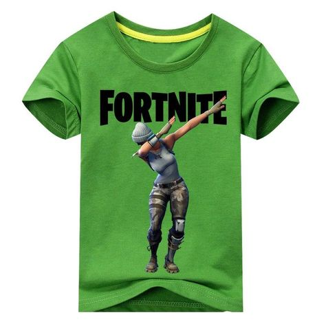 cc37e348 Children Hot Game Fortnite Print T-shirt Boy Girls Summer Short Tee Tops  Costume For Kids Clothing Baby 100%Cotton T Shirt DX057