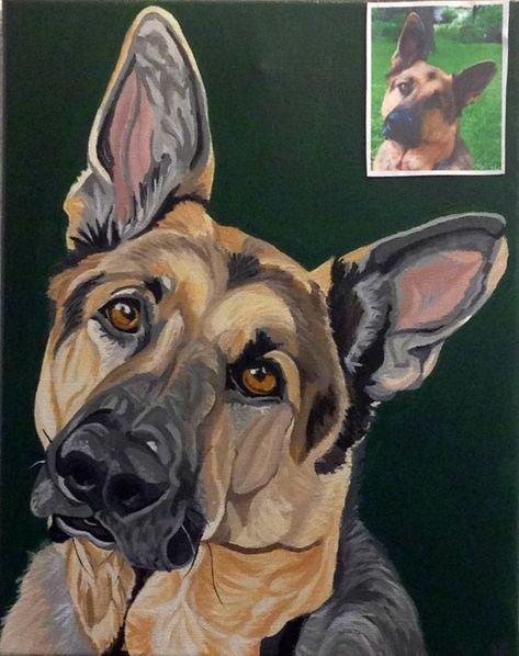 Dog Painting Custom Pet Portrait Pet Painting Custom Pet | Etsy