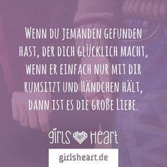 Man merkt einfach wenn es richtig ist. Mehr Sprüche auf: www.girlsheart.de #... - #einfach #girlsheart #merkt #richtig #spruche - #VerliebtSprüche