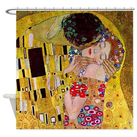 Gustav Klimt The Kiss Shower Curtain By Teyes With Images
