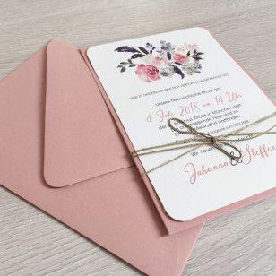 Bei Dieser Vintage Serie Haben Wir Uns Fur Eine Kombination Aus Einer Pocketkarte In Altrosa Und Einem Passenden Blumenmuster Entschi Einladung Hochzeit Vintage Hochzeitseinladung Und Einladungen