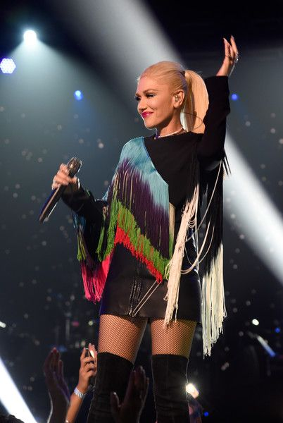Singer Gwen Stefani performs onstage during 'One Voice: Somos Live! A Concert For Disaster Relief.'