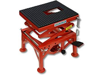 SwitZer Motorbike Hydraulic Scissor Lift with Wheels 136kg 300lbs MAX 870mm MAX 350mm MIN