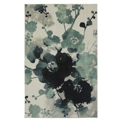 Mohawk Home Watercolor Floral Area Rug Blue Cream 5 X7