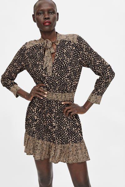 último vendedor caliente Super baratas muy agradable Animal print dress | Одежда in 2019 | Animal print dresses ...
