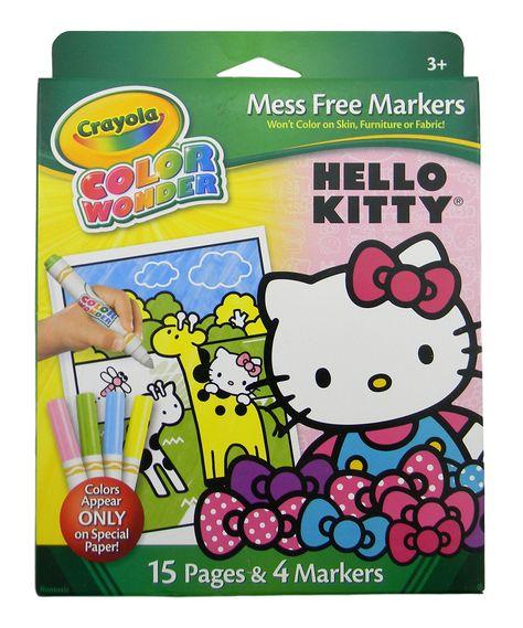 Crayola Color Wonder Mini Pad /& Markers Hello Kitty