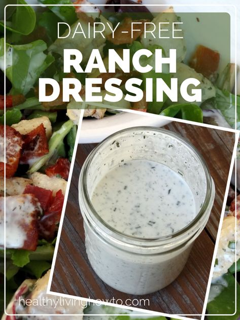 """On the Ranch: Dairy-Free Ranch Dressing August 2012 By Vanessa Romero 34 Comments Did you know there really was a """"Hidden Valley Ran. Lactose Free Diet, Lactose Free Recipes, Sem Lactose, Dairy Free Foods, No Dairy Diet, Lactose Free Ranch, Dairy Free Ranch Recipe, Dairy Free Veggie Dip, Sauces"""