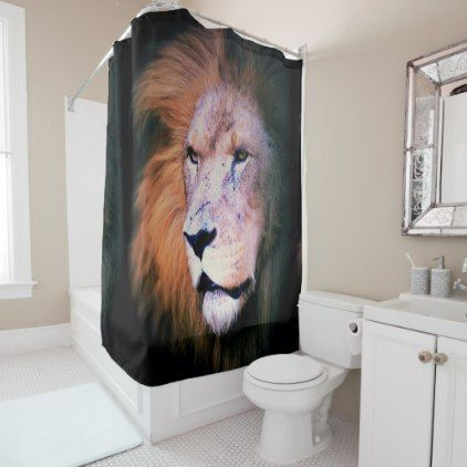 Lion Shower Curtain Zazzle Com Bathroom In 2019 Shower