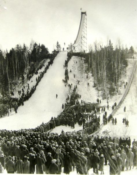 Chester Bowl In Duluth Mn A Ski Meet To Dedicate The New Steel Ski Jump January 1926 Ski Jumping Duluth Minnesota Skiing