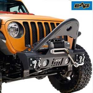 Eag Jeep Wrangler Jl Stubby Front Bumper With Stinger Jeep Front
